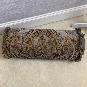 Biltmore fancy round bolster decorative pillow